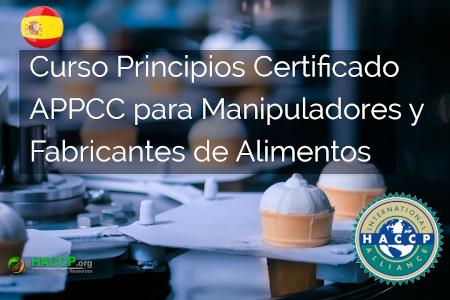 Curso Principios Certificado APPCC para Manipuladores y Fabricantes de Alimentos